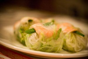 Thai rice noodle rolls by sugendran