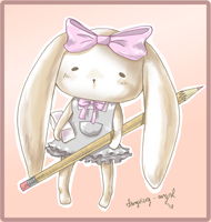 DrawAnime: Bunny Mascot by imaginary-ang3l