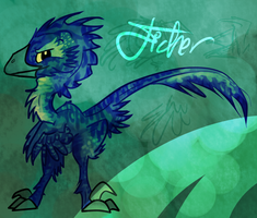 Fisher The Utahraptor by ToxicKittyCat