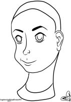 Androgynous Lineart by sapphirestarflake