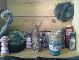 Apothecary Jars Most of the Sets by cyndisilcott