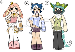 Gijinka Adopts [OPEN 1/3] by cleffas