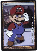 Altered Magic Card Mario by JessWells