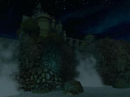 Fantasy castle background 10 by indigodeep