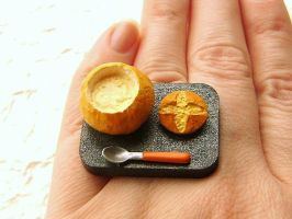 Soup In a Bread Bowl Ring by souzoucreations