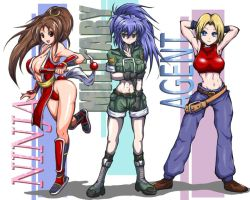 KOF 3 GIRLS by dewichi