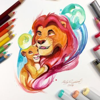 Mufasa and Simba by Lucky978