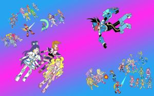 Pretty Cure All Star vs Mega Man 2012 by isaacyeap