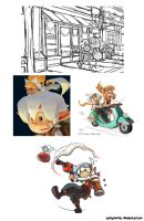 With a Cherry on Top Illustrations WIPs by BettyKwong