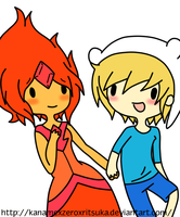 Flame and Finn c: by SourBears
