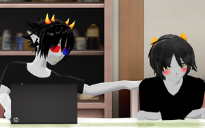 MMD - Homestuck - SolKat - Hey KK by InvaderBlitzwing