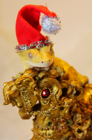 Christmas Gecko by Incubo-Infinito