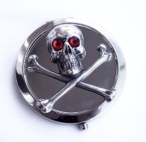Skull Compact Mirror by Aranwen