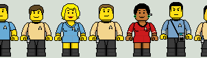 Lego'd Star Trek TOS by Ripplin