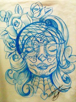 day of the dead lady by lilmrsfrankenstein