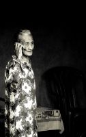 Old women and phone by tiboat8h