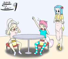 (ABDL) Breakfast time in the Satori Family by NinoSatori