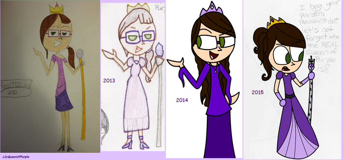 Evolution of the Queen of Purple by Queen-Of-Purple