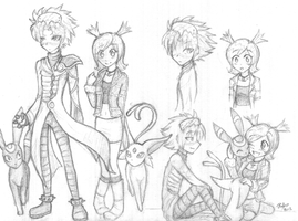Wes and Rui Sketches by firehorse6