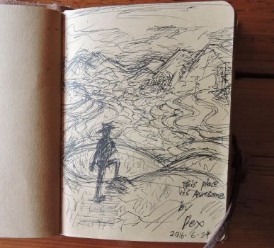 Rice terraces sketch by Xedrandon