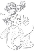 Eva the Mermaid by Doodlebotbop