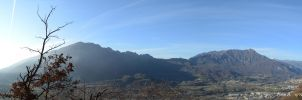Panorama from Mt. Cengio by albyper84