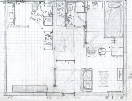 Interior view of my two person bunker. by Sir-Well-Borne