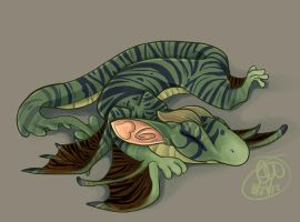Naptime for Ghoul by Caiwin