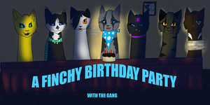 Happy Birthday Finchy/Group Drawing by ShadowMoonArts