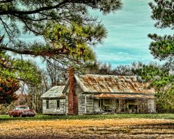 Three Holes and a House by bluemangoimages