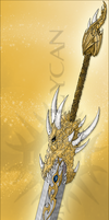 Golden Dragon Sword by xenomorph-lycan