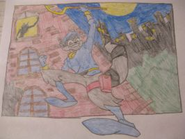 Sly Cooper Escaping Carmelita by SlyCooperRocks101