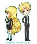 Commission:Chibis 1 by Chama