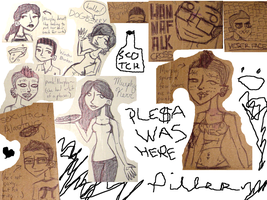 Cardboard Doodles by unearthlychild