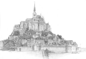 Mont St Michele by JackNeill