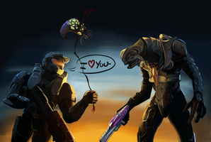 Halo : Because fighting Covs is too mainstream. by DemiKiev