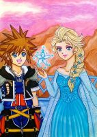 Sora and Elsa: This is my power by dagga19