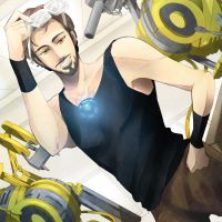 Tony Stark: Working Mode by Breetroad