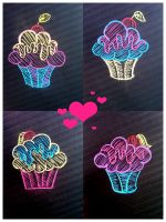 Drawings of Cupcakes by iiriscupcake