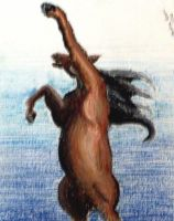 Oil Pastel Crazy Horse by Christina-The-Weird