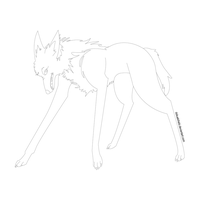 Maned-Wolf Free Line Art by DokuPRODUCTIONS