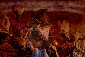 Fantasy Art, Merlin At Hell's Gate by digitalwizard