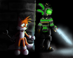 Tails VS Coalition Wraith (Story in description) by CyberTheHedgehog270