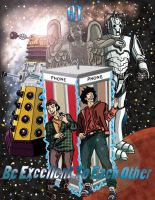 Bill and Ted Meet Doctor Who by nickini