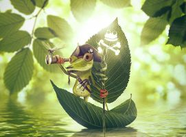 Froggy the pirate by ForestManFx