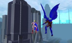Galatea Powers in Air Fight by djmatt2