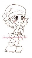 Chibi - lineart by claes-gascogne