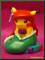 Pikachu Custom Ariel Amiibo Version 2 by pikabellechu
