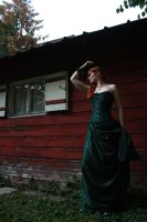 STOCK green gothic gown I by MyladyTane