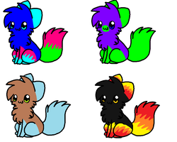 3 Point Adoptables ONE LEFT!!!! by Bacon-Soda